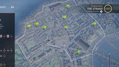 Карта всех Исторических плакатов в районе Стрэнд