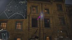 Прыгните с балки, которая расположена под левым открытым окном