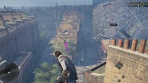 С помощью крюка перелетите на здание напротив