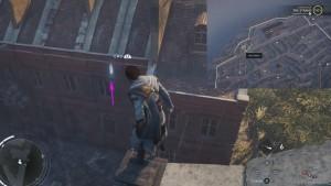 Перелетите с крышу на крышу, зацепившись крюком за трубы