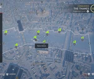 В северной части района Темза можно найти 9 Аномалий Helix / Хеликс