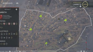 В районе Ламбет можно найти 4 Засушенных Цветка