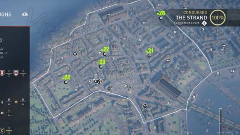 Карта всех Засушенных Цветов в районе Стрэнд