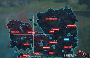 На карте отмечены все 23 Древних Склепа.