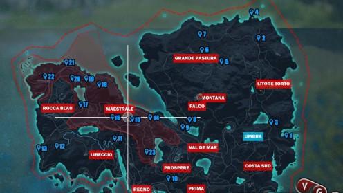 Just cause 3 карта с местонахождением древних склепов