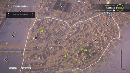 Карта всех Запертых сундуков Ламбет