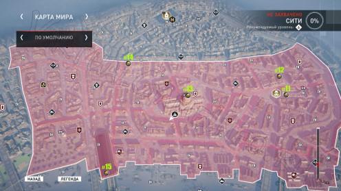 Карта всех Запертых сундуков Сити