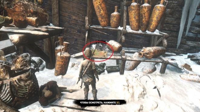 Rise of the Tomb Raider Карта архивариуса Ледяная пещера