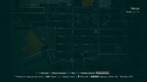 Карта с месторасположением записи о потерянном агента.