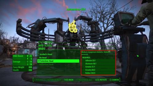 Automatron кастомизация в Fallout 4