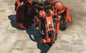 Караульный робот с гидравлическими ногами.