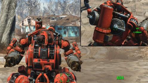 Караульный робот с гидравлическим торсом в Fallout 4