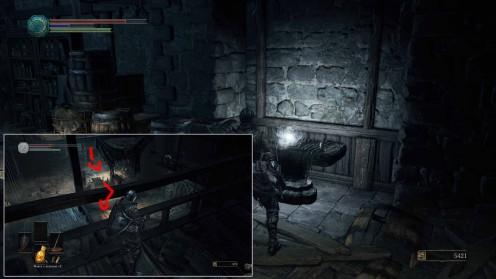 Местонахождение Осколка Эстуса на Высокой Стене Лотрика Dark Souls 3