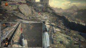 Идём прямо  спрыгивая с платформ вниз. Слева от дракона будет находится Драконий гербовый щит.
