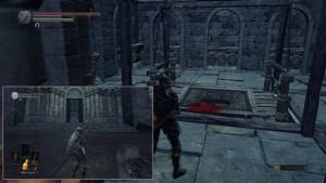 Заходим в замок в конце локации Поселение нежити, спускаемся на лифте вниз.