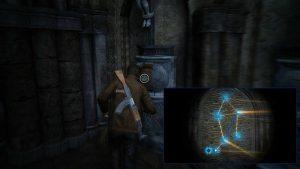 Крест справа, также сопоставляем свет с точками.