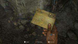 Возьмите письмо и переверните его другой стороной.