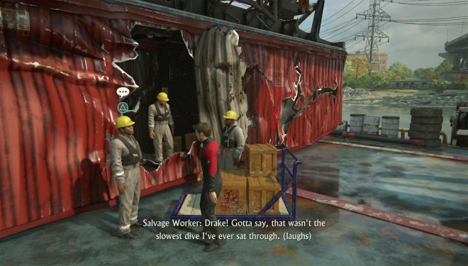 Uncharted 4 необязательные диалоги