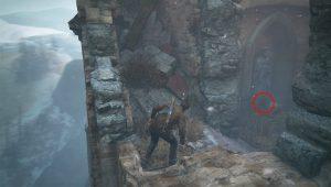 Наверху вы найдете статую рядом с которой вы найдете череп.