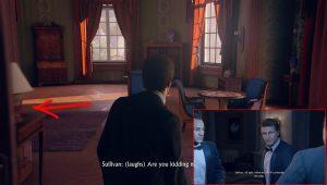 После диалога с Салли и Сэмом вернитесь обратно в комнату и поверните налево.