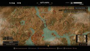 Карта с месторасположением игроков в Туссенте.