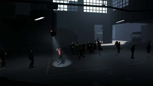 Прохождение локации с роботом контролирующий движение людей