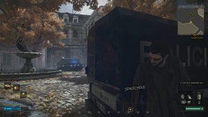 В фонтанном районе находим фургон, вскрываем багажник получаем гранатомёт.
