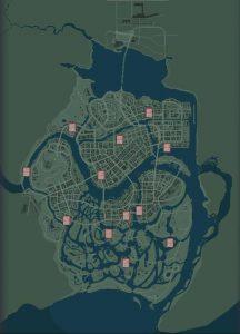 Mafia III карта с журналами Хот-Род