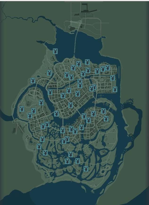Карта с журналами Playboy Mafia 3