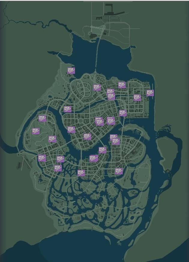 Картины Варгаса местонахождение на карте Мафия 3