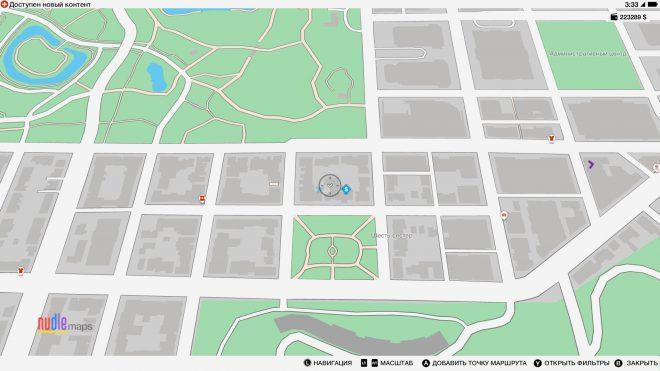 Карта с местонахождением Flip Wagon уникальный транспорт