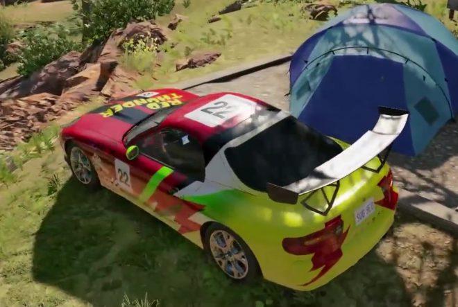 Зелёная машина с красным винилом в Watch Dogs 2 Ice Cube место