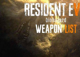 Resident Evil 7 Полный список оружия