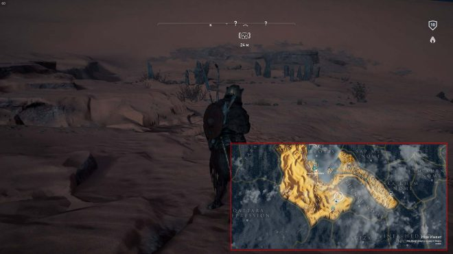 AС Origins карта с местонахождением камней Созвездие львицы