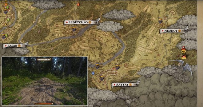Kingdom Come: Deliverance карта сокровищ 1
